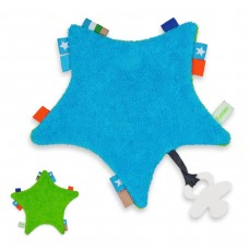 Labeldoekje Star Tuttle Turquoise_Green
